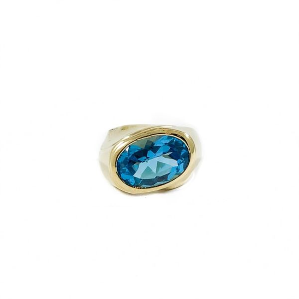 Blue Topaz and Yellow Gold Ring Lumina Gem Wilmington, NC