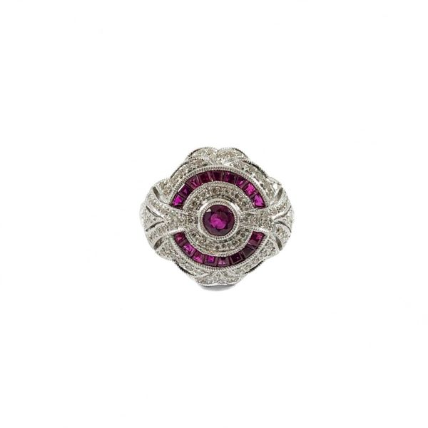Ruby and Diamond Fashion Ring - White Gold Lumina Gem Wilmington, NC