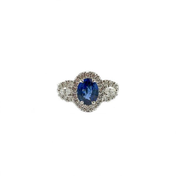 1.52ct Sapphire and 1.04ctw Diamond Ring - White Gold Lumina Gem Wilmington, NC