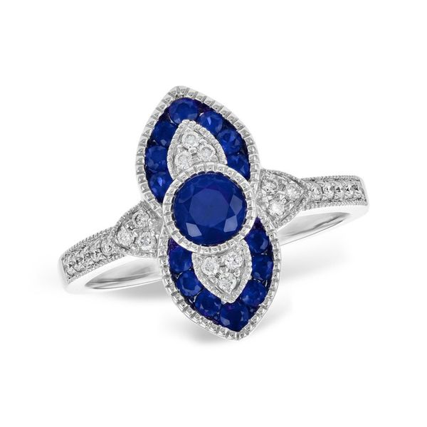 Allison Kaufman Sapphire and Diamond Ring - White Gold Lumina Gem Wilmington, NC