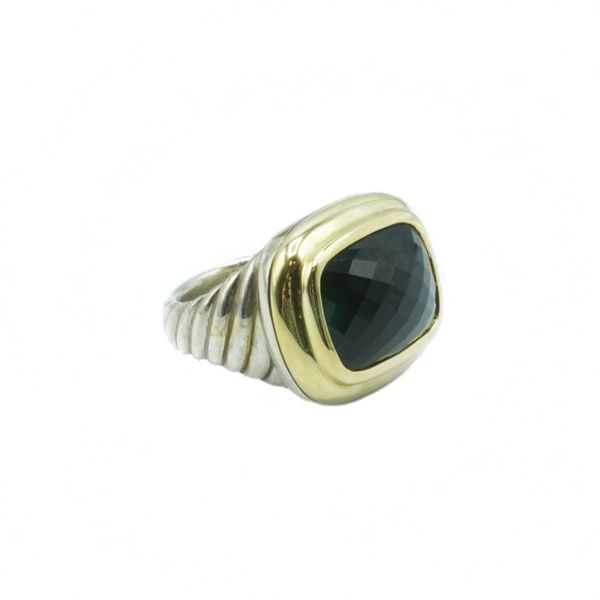 David Yurman Onyx Albion Ring - Sterling Silver and Yellow Gold Image 2 Lumina Gem Wilmington, NC