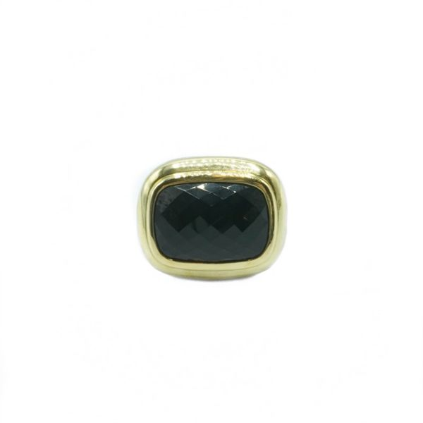 David Yurman Onyx Albion Ring - Sterling Silver and Yellow Gold Lumina Gem Wilmington, NC