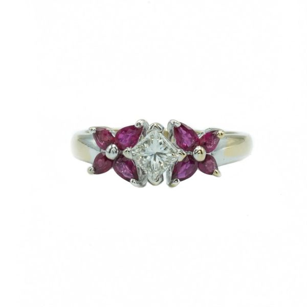 Ruby and Diamond Ring - White Gold Lumina Gem Wilmington, NC
