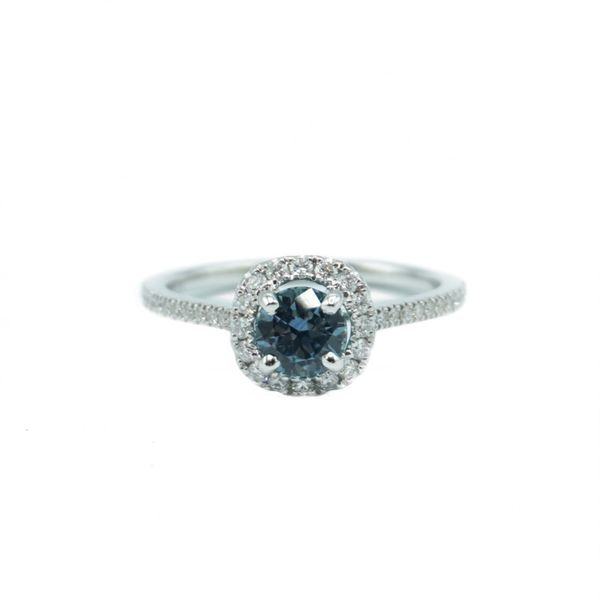 S. Kashi & Sons Montana Sapphire and .29ctw Diamond Ring in White Gold Lumina Gem Wilmington, NC
