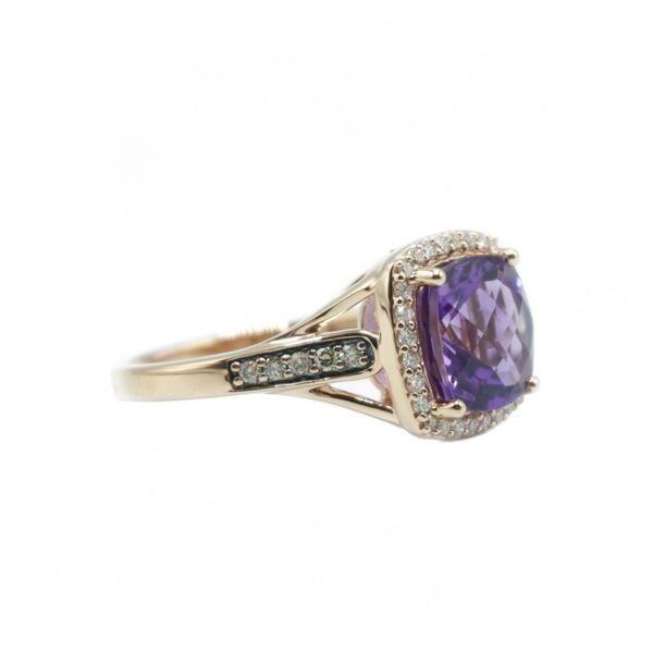 Le Vian Amethyst and Diamond Ring - Rose Gold Image 2 Lumina Gem Wilmington, NC
