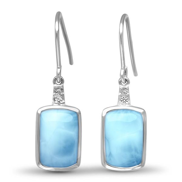 Marahlago Maris Larimar and White Sapphire Earrings Lumina Gem Wilmington, NC