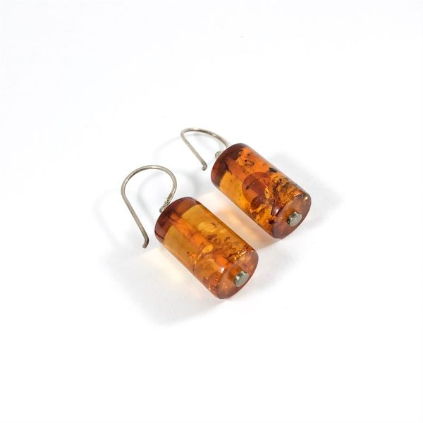 Marcin Zaremski Amber Dangle Earrings Image 2 Lumina Gem Wilmington, NC