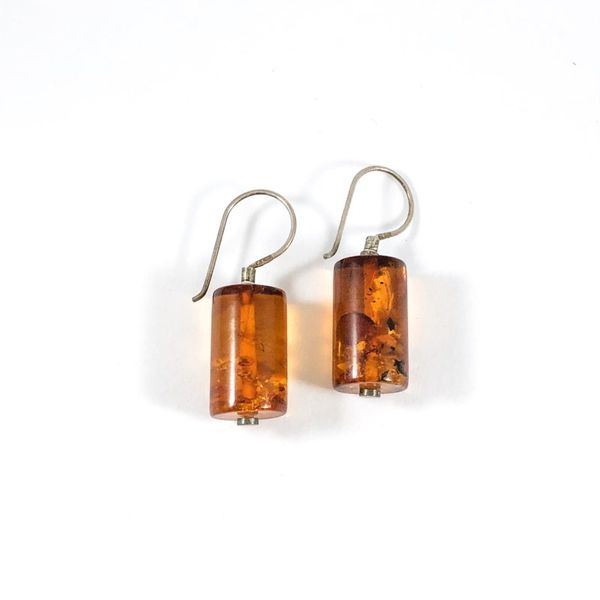 Marcin Zaremski Amber Dangle Earrings Lumina Gem Wilmington, NC