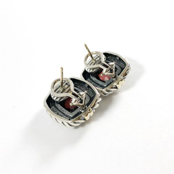 David Yurman Garnet Earrings Image 2 Lumina Gem Wilmington, NC