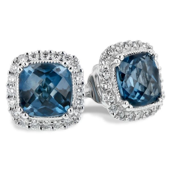 Allison Kaufman 2.14 London Blue Topaz and Diamond Earrings Lumina Gem Wilmington, NC