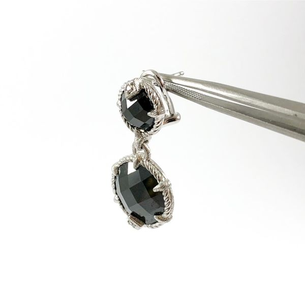 Judith Ripka Onyx Dangle Earrings - 1.25