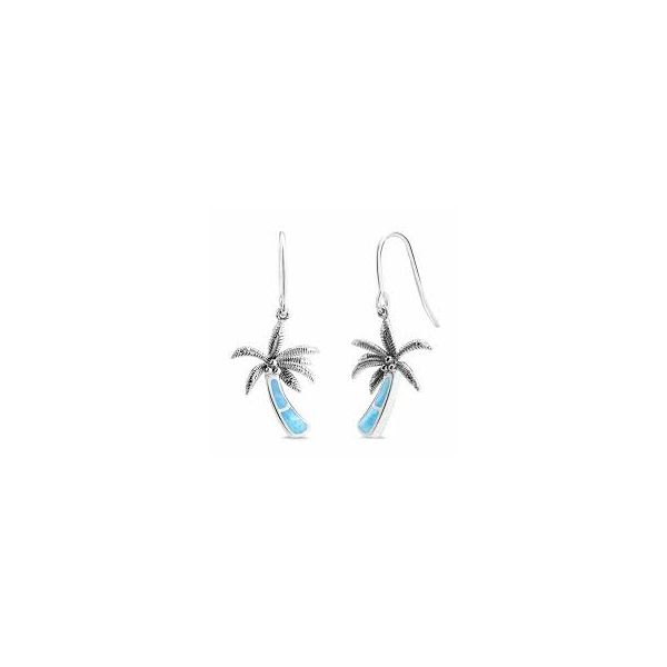 Marahlago Larimar Palm Tree Earrings Lumina Gem Wilmington, NC