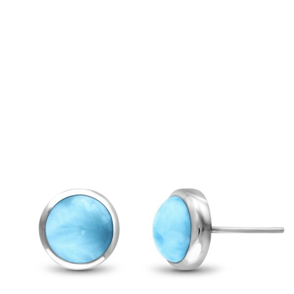 Marahlago Larimar Stud Earrings Lumina Gem Wilmington, NC