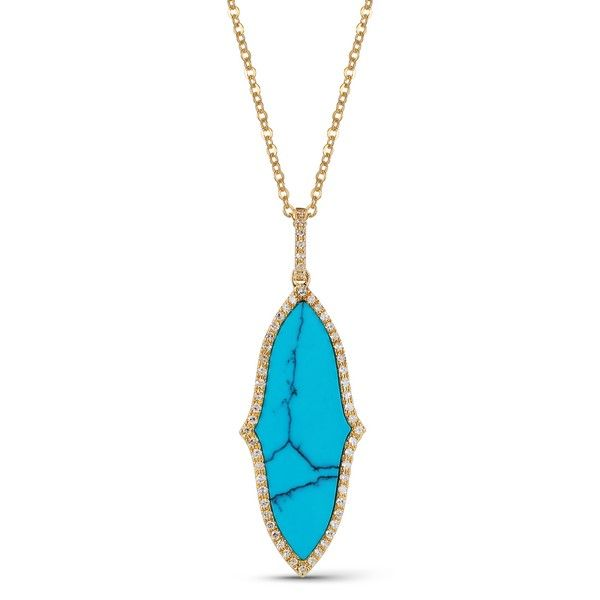 Luvente Turquoise and Diamond Necklace - 18