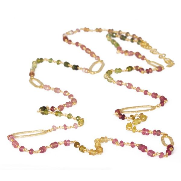 Nina Nguyen Multicolor Tourmaline Beaded Spectrum Necklace - 36
