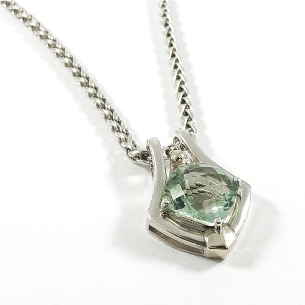 Lorenzo Two Tone Green Amethyst Necklace - 17