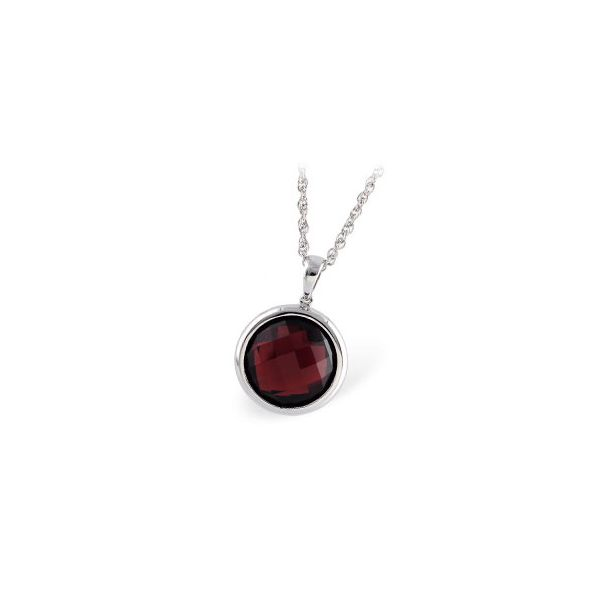 Allison Kaufman Garnet Necklace - White Gold - 18