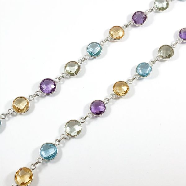 Raymond Mazza Multigem and Sterling Silver 36 Inch Necklace Image 2 Lumina Gem Wilmington, NC