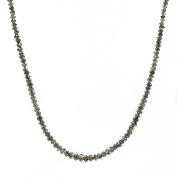 Smokey Diamond and White Gold Necklace Made by Local Artist Katharyn Zava - 16