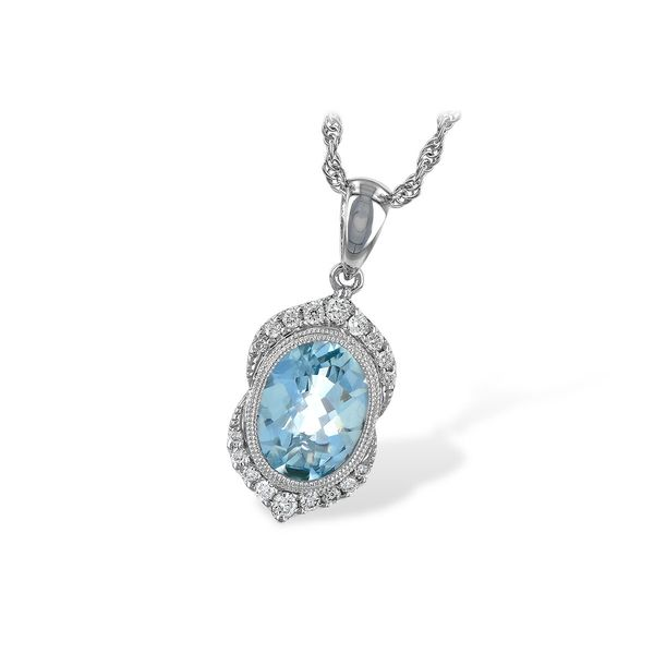 Allison Kaufman Aquamarine and Diamond Necklace Lumina Gem Wilmington, NC