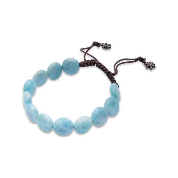Marahlago Larimar Coin and Leather Bracelet - 6