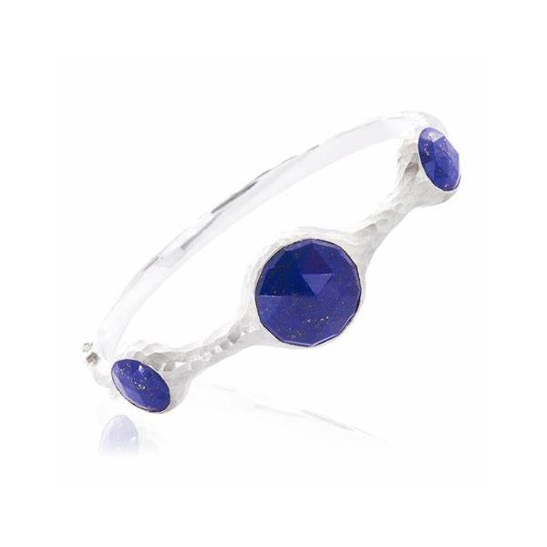Nina Nguyen Balance Lapis Three Stone Bangle Lumina Gem Wilmington, NC