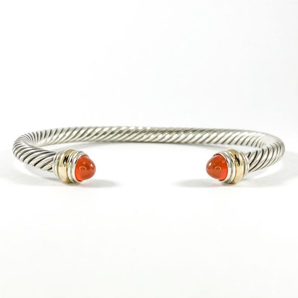 David Yurman Cable Bracelet with Carnelian Agate, 5mm Lumina Gem Wilmington, NC
