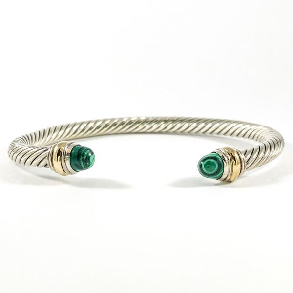 David Yurman Cable Bracelet with Malachite, 5mm Lumina Gem Wilmington, NC