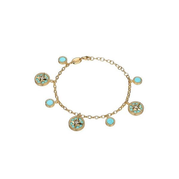 Charles Garnier Synthetic Turquoise and Gold Vermeil Bracelet Lumina Gem Wilmington, NC