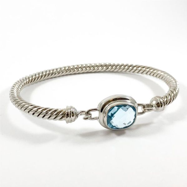 Raymond Mazza Blue Topaz and Sterling Silver Bracelet Image 2 Lumina Gem Wilmington, NC