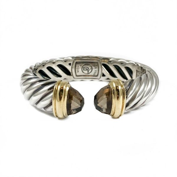 David Yurman Waverly Hinged Cuff with Smoky Quartz End Caps Lumina Gem Wilmington, NC