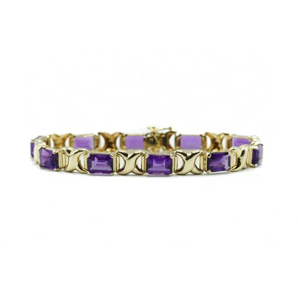 Amethyst and Yellow Gold Bracelet Lumina Gem Wilmington, NC
