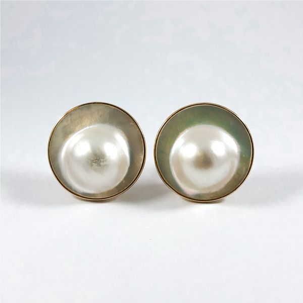 Mabe Pearl Earrings with Omega Backs Lumina Gem Wilmington, NC