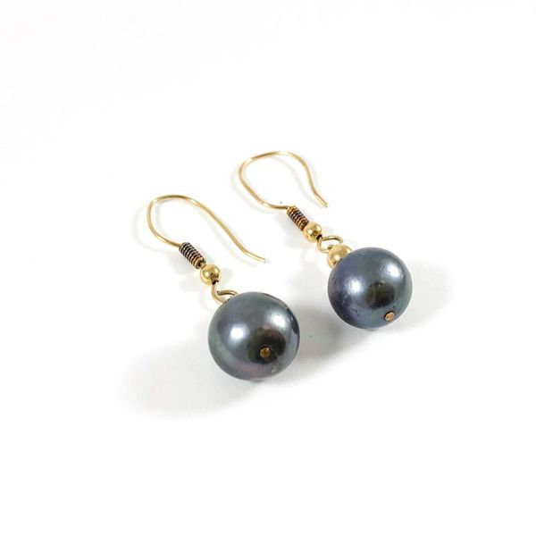 11mm Tahitian Pearl Strand with Matching Dangle Earrings Image 3 Lumina Gem Wilmington, NC
