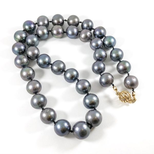 11mm Tahitian Pearl Strand with Matching Dangle Earrings Image 4 Lumina Gem Wilmington, NC
