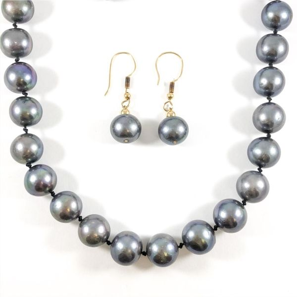 11mm Tahitian Pearl Strand with Matching Dangle Earrings Lumina Gem Wilmington, NC