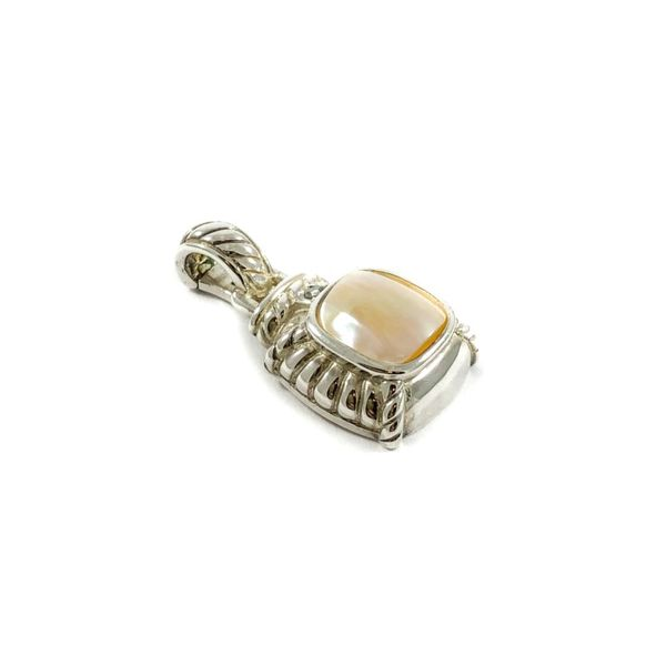 Judith Ripka Mother of Pearl Enhancer - Sterling Silver - 1.25