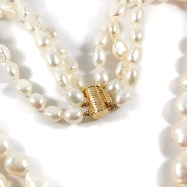 3 Strand Freshwater Pearl Necklace - 16