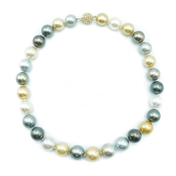 14-16mm South Sea Pearl Strand - Yellow Gold - 19