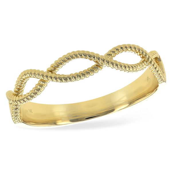 Allison Kaufman Yellow Gold Twisted Band Lumina Gem Wilmington, NC