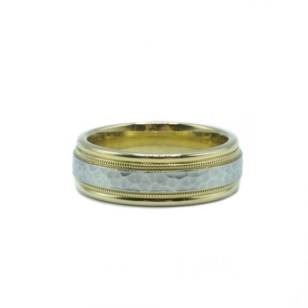 Yellow Gold and Platinum Wedding Band Lumina Gem Wilmington, NC