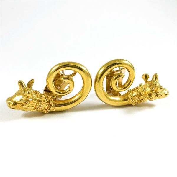 22k Gold Bull Earrings Image 2 Lumina Gem Wilmington, NC