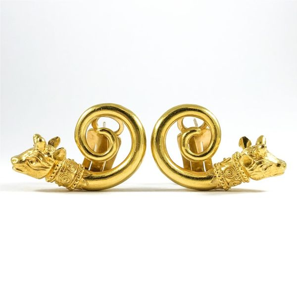 22k Gold Bull Earrings Lumina Gem Wilmington, NC