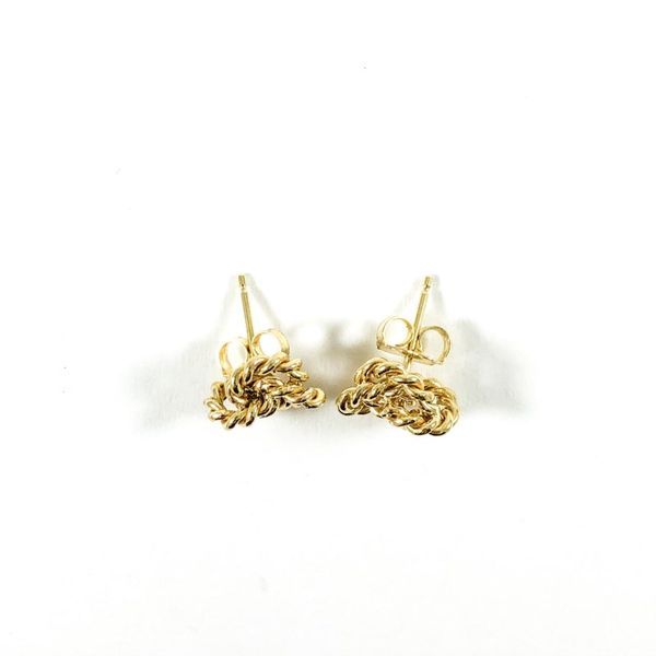 Gold Knot Earrings Image 2 Lumina Gem Wilmington, NC