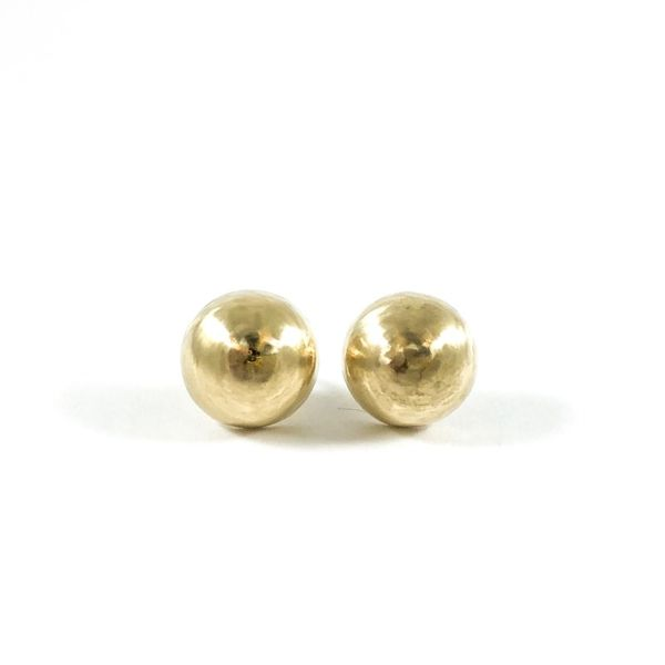 2.9g Yellow Gold Dome Earrings Lumina Gem Wilmington, NC
