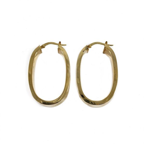 Yellow Gold Hoop Earrings - 7.4 Grams Image 3 Lumina Gem Wilmington, NC