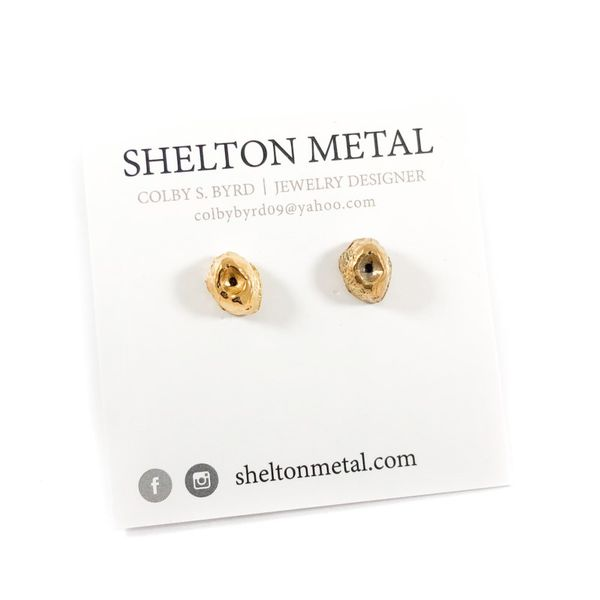 Shelton Metal Gold Vermeil Barnacle Studs Lumina Gem Wilmington, NC