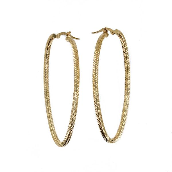 Yellow Gold Oval Hoops Lumina Gem Wilmington, NC