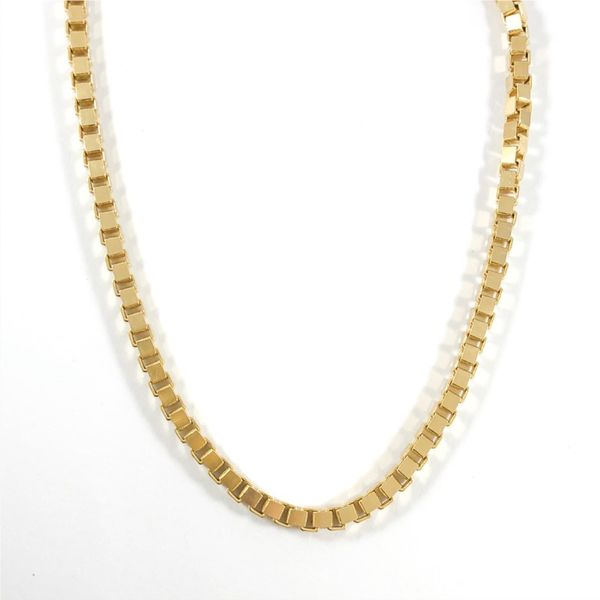 Yellow Gold Box Chain - 24