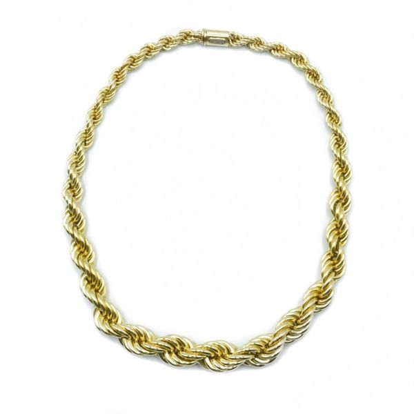 Yellow Gold Graduated Rope Chain - 18